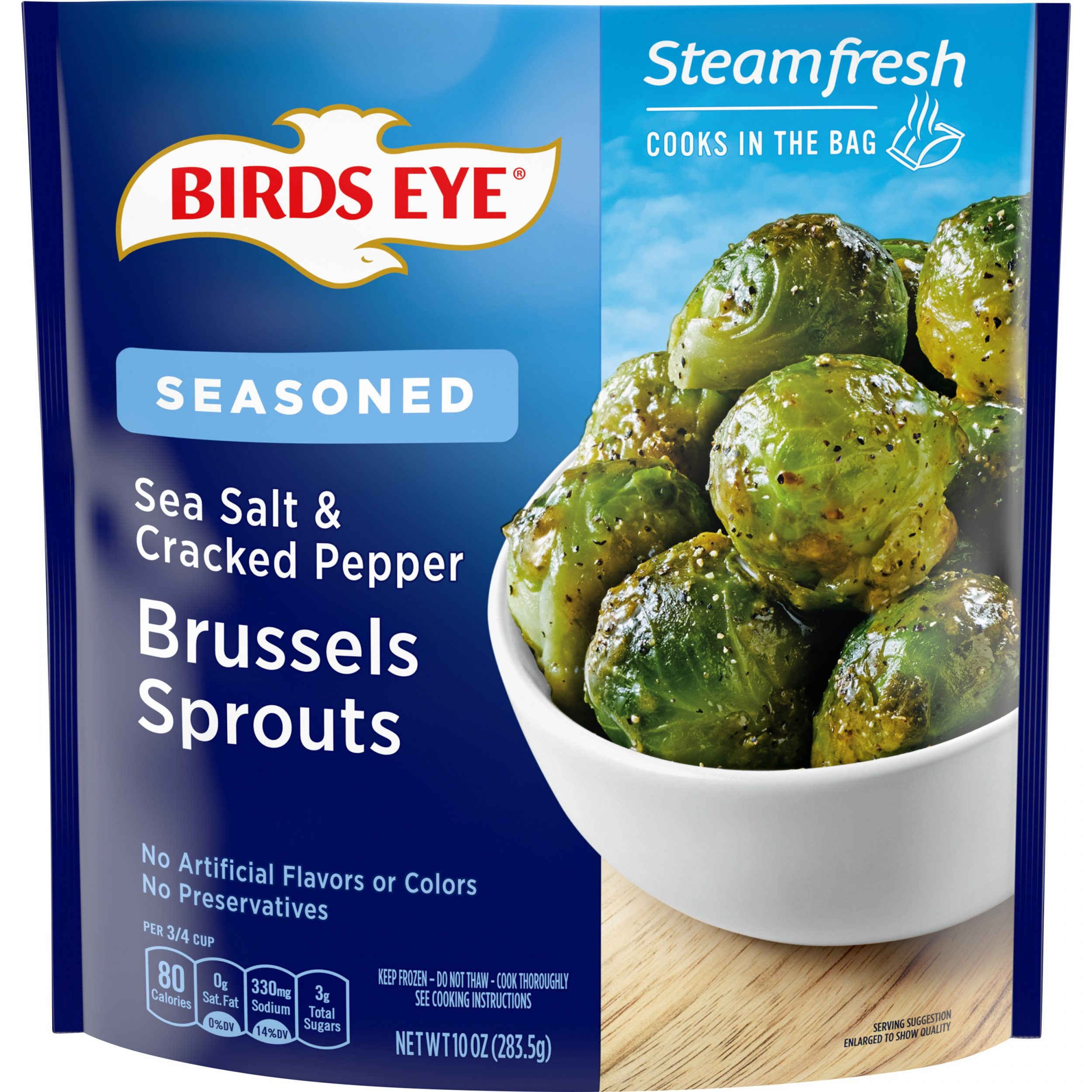 Birds Eye Steamfresh Flavor Full Sea Salt & Cracked Pepper Brussels Sprouts