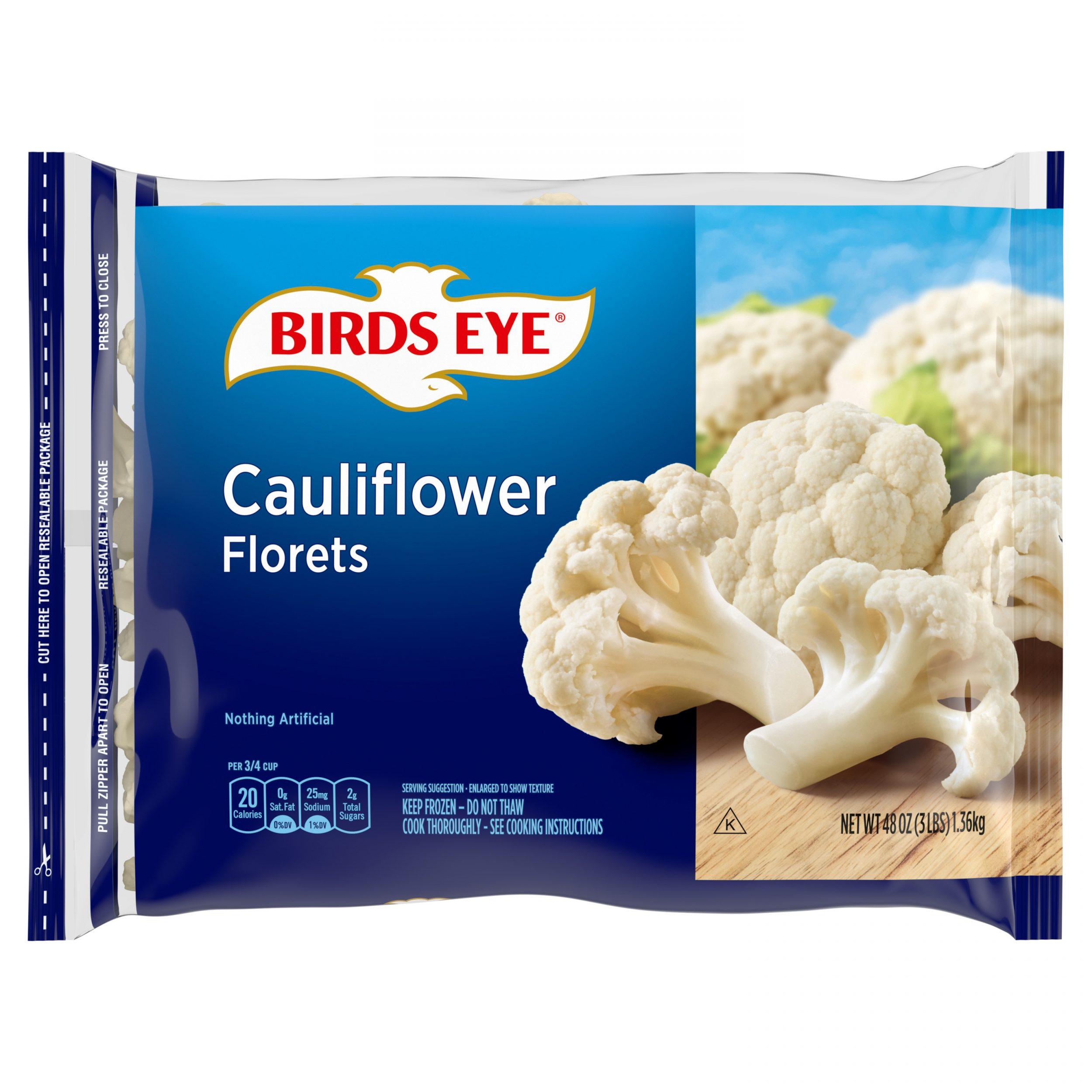 Birds Eye Fresh Frozen Select Vegetables Cauliflower Florets