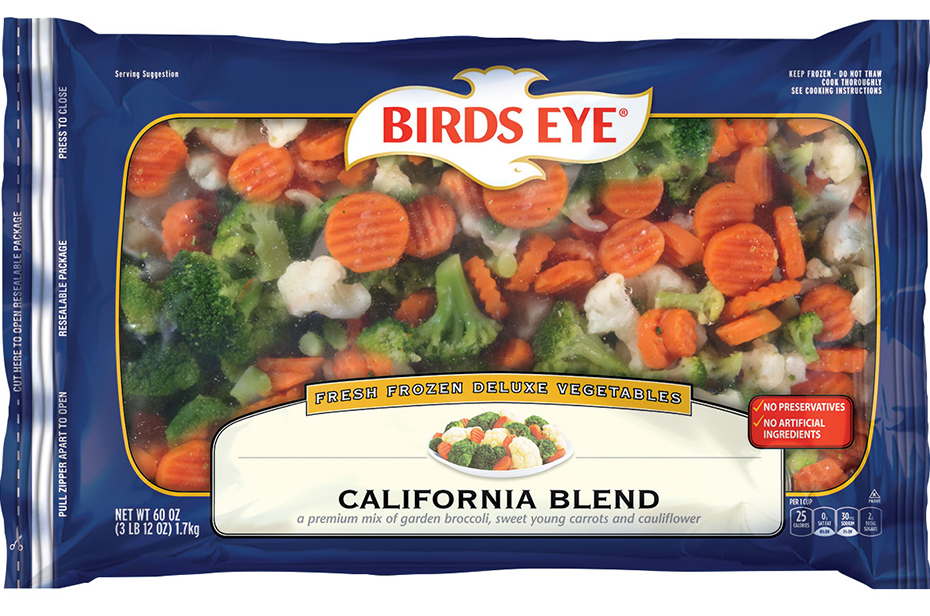 Birds Eye Fresh Frozen Deluxe Vegetables California Blend