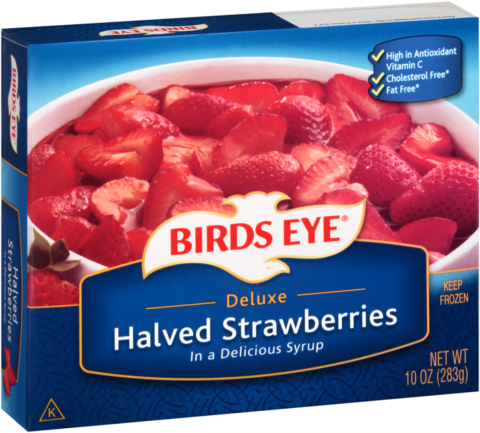 Birds Eye Deluxe Halved Strawberries in a Syrup