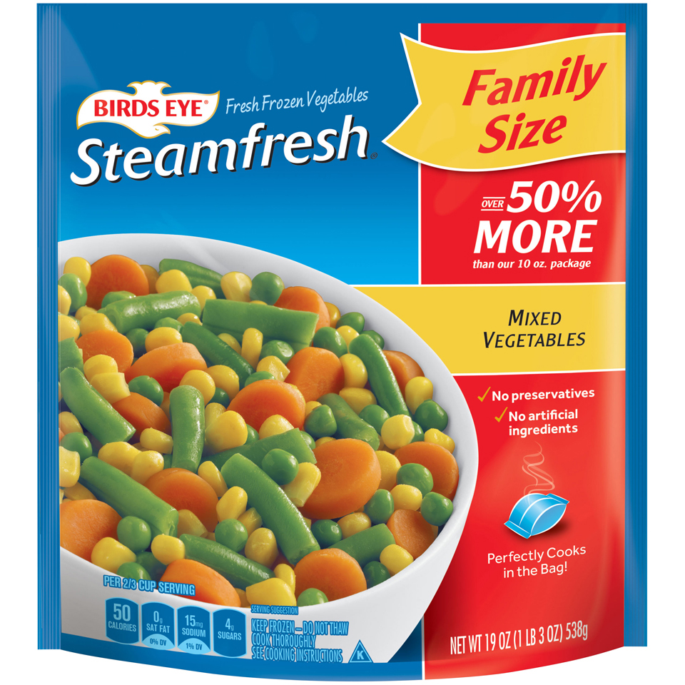 Birds Eye Steamfresh Family Size Mixed Vegetables