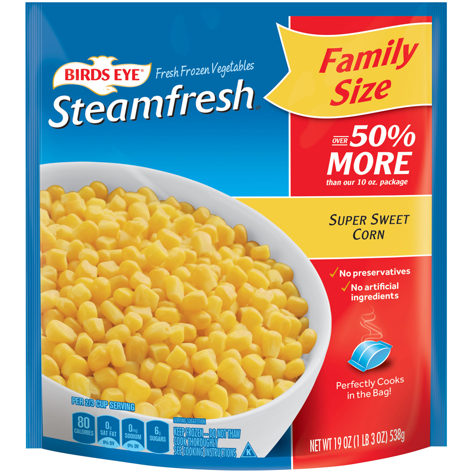 Birds Eye Steamfresh Family Size Super Sweet Corn