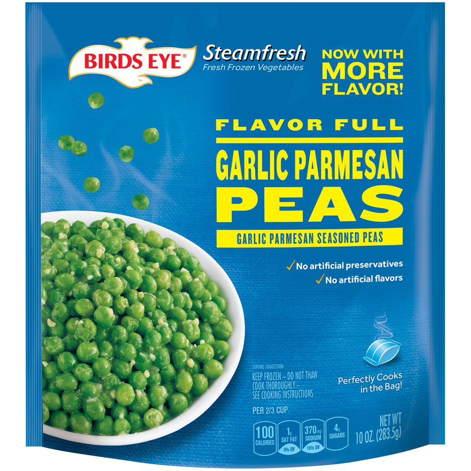 Birds Eye Steamfresh Flavor Full Garlic Parmesan Peas
