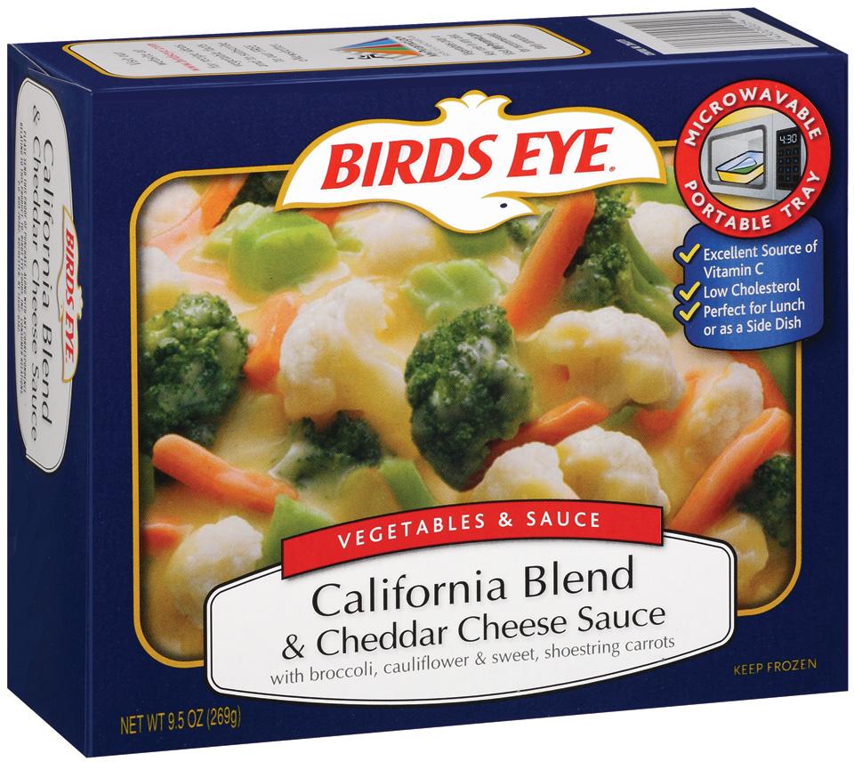 Birds Eye Vegetables & Sauce California Blend & Cheddar Cheese Sauce