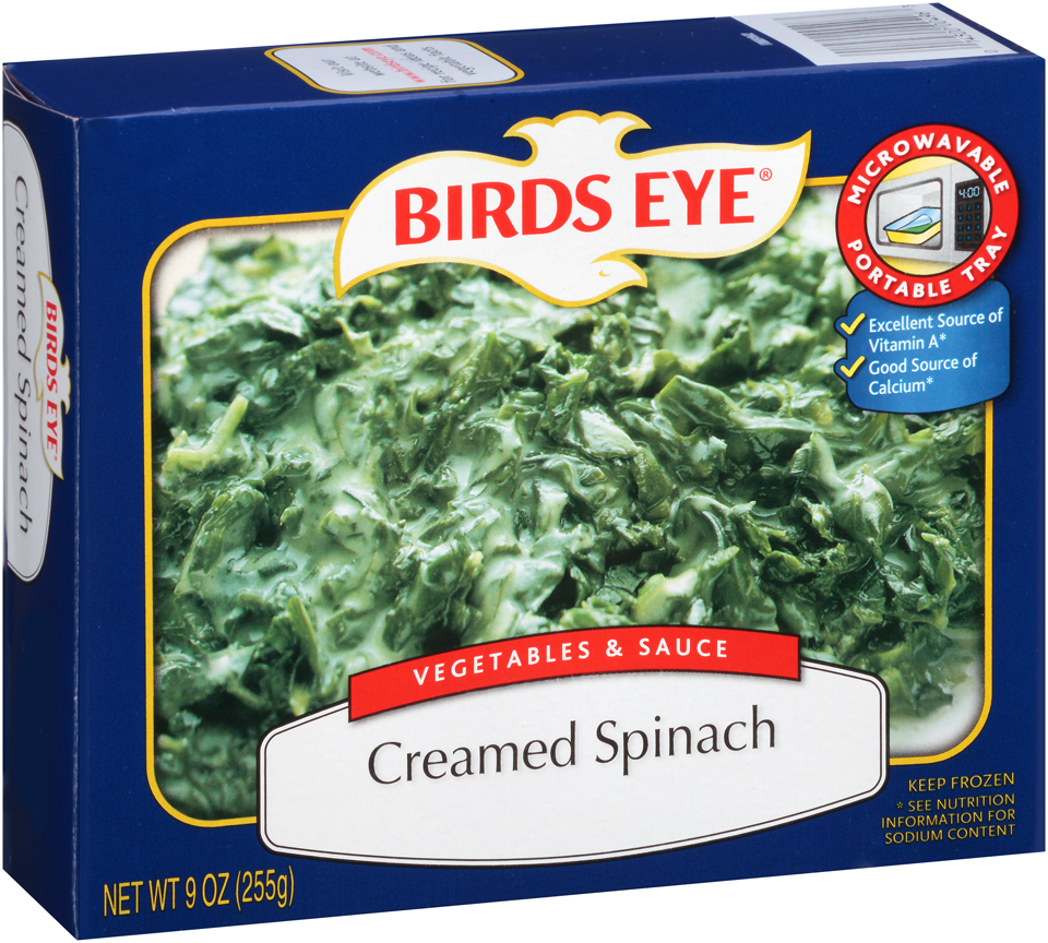 Birds Eye Vegetables & Sauce Creamed Spinach