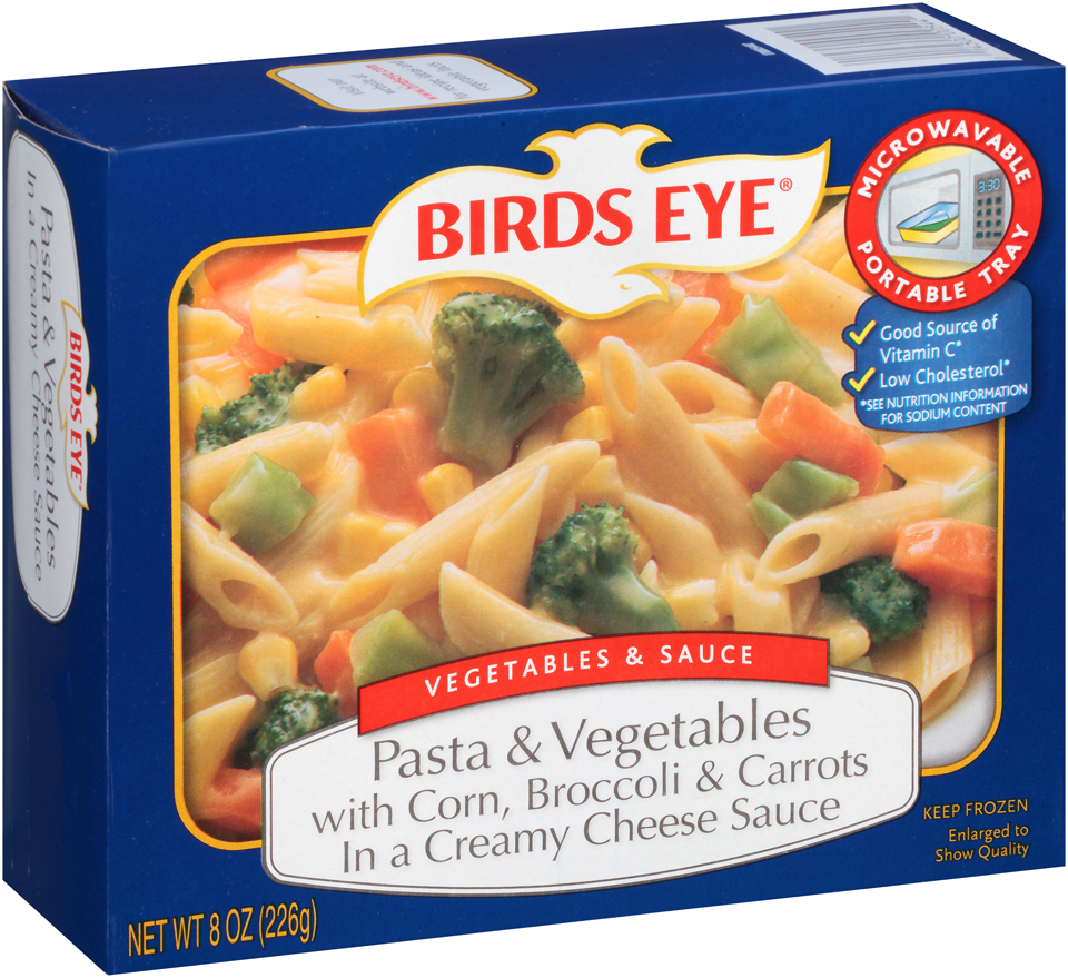 Birds Eye Vegetables & Sauce Pasta & Vegetables with Corn, Broccoli & Carrots in a Creamy Cheese Sauce