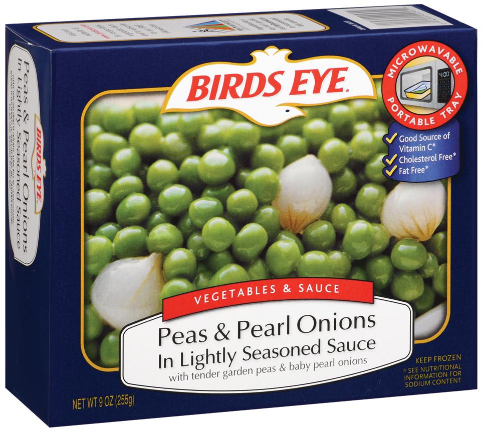 Birds Eye Vegetables & Sauce Peas & Pearl Onions in Lightly Seasoned Sauce
