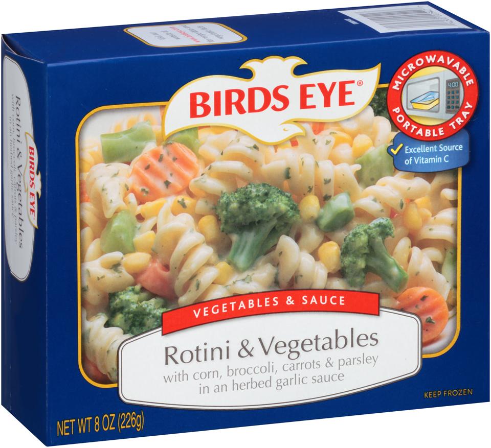 Birds Eye Vegetables & Sauce Rotini & Vegetables in an Herbed Garlic Sauce