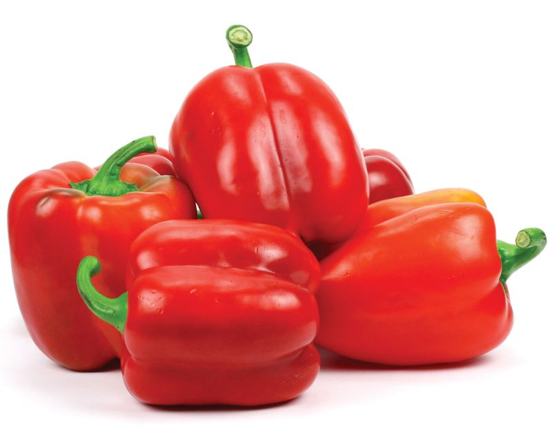 Frozen vegetables retain their nutrients during transport (red peppers bg)