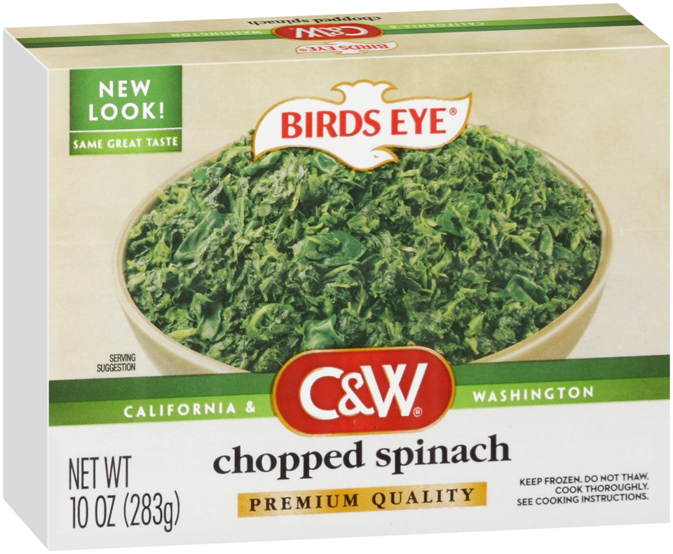 C&W Premium Quality Chopped Spinach