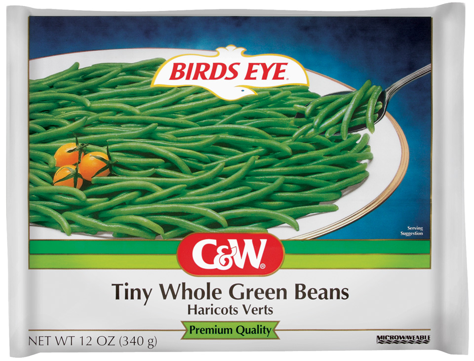 C&W Premium Quality Tiny Whole Green Beans