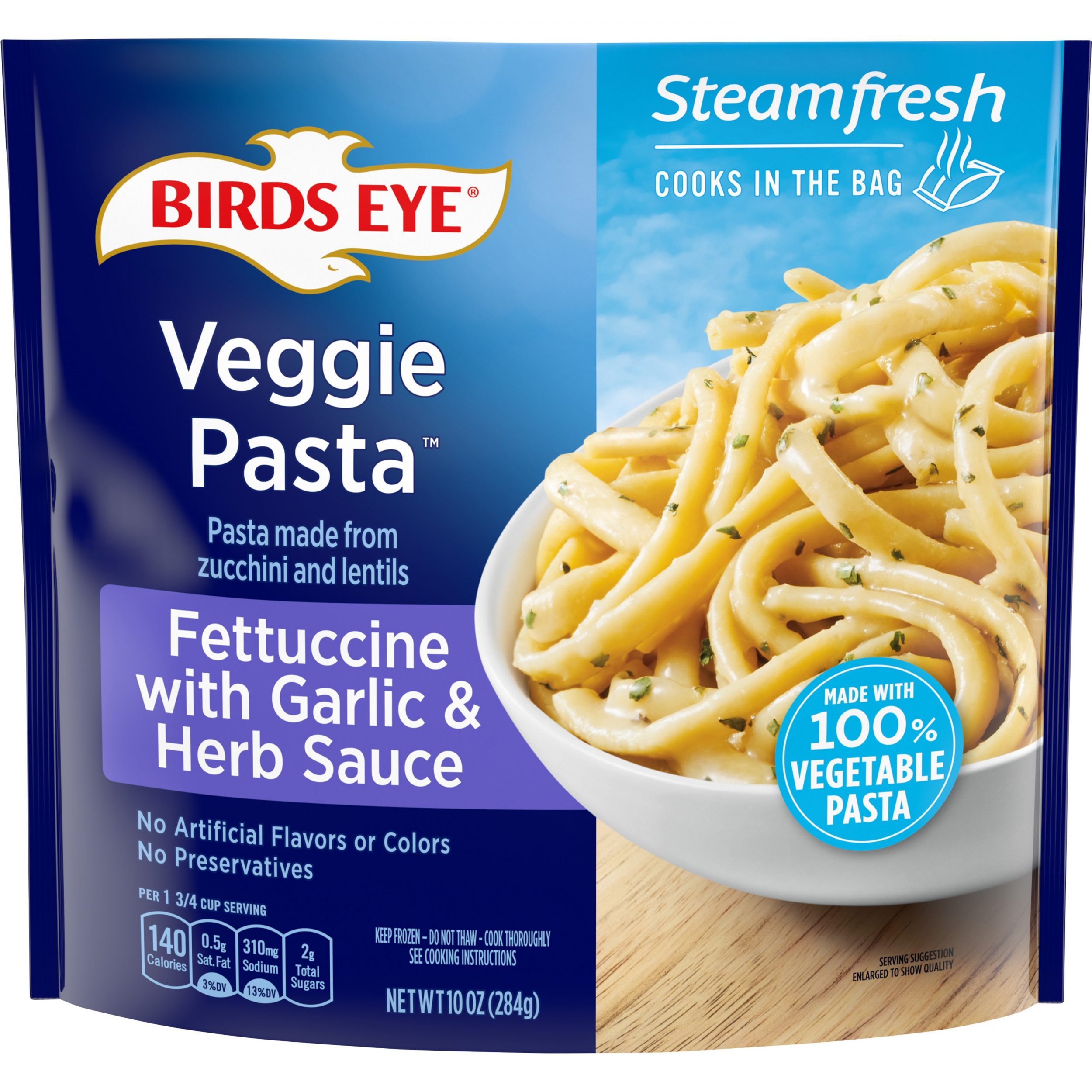 Birds Eye Steamfresh Veggie Made™ Fettuccine With Garlic & Herb Sauce